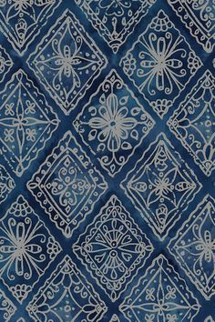 Indigo Boho by lauraflorencedesign - Hand drawn bohemian pattern in blue on fabric, wallpaper, and gift wrap. Bold bohemian pattern in blue. #bohemian #geometric #batik #handdrawn #makeit #sewit #sewing