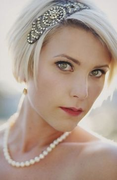 Make your short hair pop with a fun beaded hair accessory!