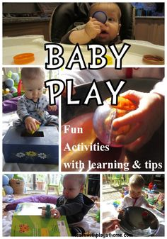 Learn with Play at home: Baby Play ideas (from 6 months) - plus lots of other ideas on the website