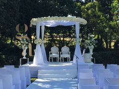 houppa mariage cannes gustavo averbuj - Palm Beach Cannes Mariage