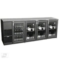 "Glastender ND92BR-L1-GSH(RLRR) 92"" Glass Door Two Zone Back Bar Cooler by Glastender. $4664.99. Having a large selection of beer and red wine stored in one location at the proper serving temperature can save valuable time behind the bar while also keeping guests happy. The 92"" Glass Door Two Zone Back Bar Cooler (ND92BR-L1-GSH(RLRR)) from Glastender is designed to store both beer and red wine behind glass doors so guests can easily view the available selection. The..."