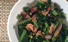 (breakfast) Spicy Mixed Greens With Bacon - Ancestral Nutrition