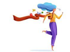 run lola run designed by oguzhan kodalak. Connect with them on Dribbble; Flat Illustration, Vector Illustrations, Walking People, Flat Design, Storyboard, Dream Big, Design Inspiration, Design Ideas, Disney Characters