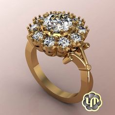 #nofilter #engagementring #yellowgold #diamonds #love #luxury #bestgift #proposal #perfection #marriage #flower #simple #sayyes #chic #custommade #jewelry #designs #womens #engaged #elegant #idos #beautiful