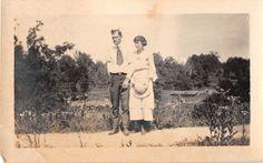 Photograph Snapshot Vintage Black and White Couple Dress Hat Yard Stern 1920'S | eBay