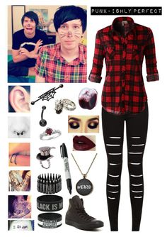 """Videos With Dan and Phil"" by punkishly-perfect-in-every-way ❤ liked on Polyvore"