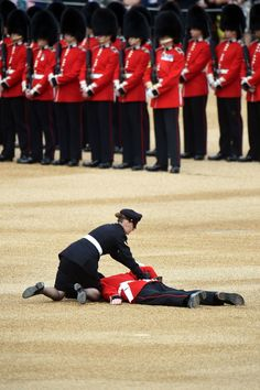 A soldier fainted during the Queen's 90th birthday celebration