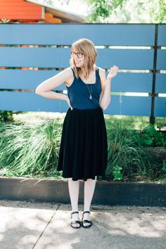 black and navy for summer