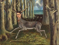 Also included in the MCA Chicago exhibition, La Venadita (Little Deer), 1946, shows Kahlo as a wounded deer. ©2013 BANCO DE MÉXICO DIEGO RIVERA FRIDA KAHLO MUSEUMS TRUST, MEXICO, D.F./ARTISTS RIGHTS SOCIETY (ARS), NEW YORK/PRIVATE COLLECTION, CHICAGO