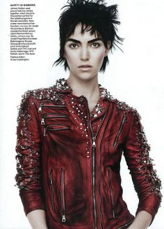 The woman is kinda scary but the jacket is kick butt! :0