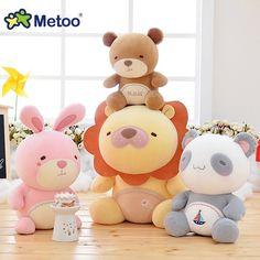 7.5 Pouce En Peluche Doux Belle En Peluche Bébé Enfants Jouets pour filles D'anniversaire Cadeau De Noël 19 cm Lion Lapin Ours Panda Metoo poupée