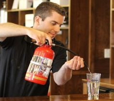 Be the hero and keep drink emergencies under control with a Fire Extinguisher drink dispenser at your bar.