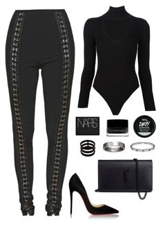 """."" by owl00 ❤ liked on Polyvore featuring Balmain, Cushnie Et Ochs, Christian Louboutin, Yves Saint Laurent, Repossi, Cartier, NARS Cosmetics and Illamasqua"
