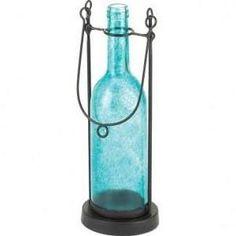 Glass Carrington Bottle Candleholder