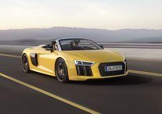 El nuevo Audi R8 Spyder 2017 se situará como uno de los superdeportivos descapotables más interesantes Hace uso de un motor V10 con 540 CV.