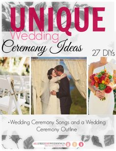 This is absolutely amazing! It is a free, printable book with so many wedding ceremony DIYs, a wedding ceremony outline, and wedding ceremony song ideas.