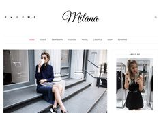 Milana Blogger Template. Best minimalist free blogger templates 2017 with best quality template create by clean coded and well performed blog loading speed design. Milana Blogger Template. Blog Templates Free, Blogger Templates, Responsive Layout, Lifestyle Shop, Free News, Free Blog, Travel Style, Coat, Shopping