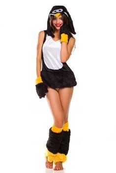 Amour- Deluxe Furry Animal Adult Women Cosplay Halloween Costume (Penguin)