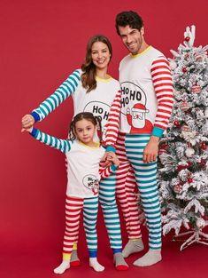 Santa Squad PJs Matching Family Christmas Elf Pyjamas Mum Dad Baby Child Newborn