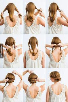 Beautiful hair style for medium to long hair