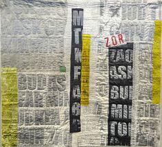 jette Clover metropolis Art Textile, Textile Artists, Art Postal, Art Quilting, Textiles Techniques, Typography, Lettering, Mixed Media Art, Fiber Art