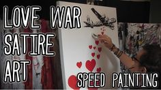 LOVE WAR VI - Seed Painting - Satire Art by Stephen Quick