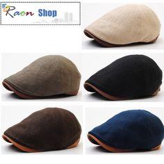 New Classy Design Men Style Hemp Newsboy Cap Gatsby Flat Golf Hat Faux Leather | eBay