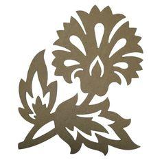Flor De Lis Stencil   nº2 06968 set de 2 ornamentos 06969 ornamento de flor