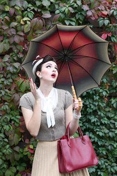 Maja Topcagic VINTAGE WOMAN WITH UMBRELLA Women Vintage Woman, Vintage Ladies, Umbrella Girl, Umbrellas Parasols, Vintage Images, Creative, Photography, Girls, Women