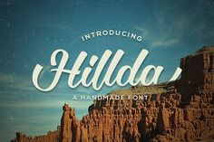 Hillda Script Fonts **Hillda Script** is bold, modern, and multi-purpose typeface that combines brush lettering with nat by Graptail Brush Font, Brush Lettering, Calligraphy Fonts, Script Fonts, Caligraphy, Business Brochure, Business Card Logo, Hello Font, Font Maker