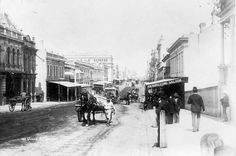 Queen Street  in Brisbane,Queensland in 1890. State Library of NSW.