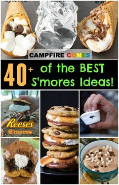 We gathered up Over 40 of the BEST S'mores Recipes and ideas to share with you today. All of these are so unique. We absolutely love s'mores in any form!