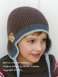Little Sherpa Crochet Hat Pattern No601 Emailed2U FOUR by BBfromOz, $4.00