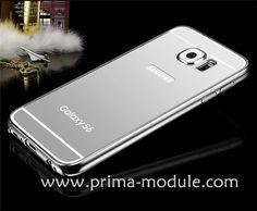 Luxus SPIEGEL Mirror Ultra Slim Dünn Metall Aluminium Bumper mit transparent Back up Hülle für Samsung S6 und S6 edge - Prima-Module.Com