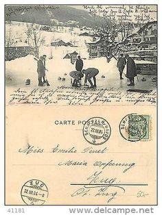 1904 Kt. Graubunden Curling gelaufen Schatzalp Davos-Zug jahre 1904