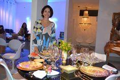 """Claudia Matarazzo, jornalista, consultora de etiqueta, moda e comportamento, esteve no Finess Buffet, em Teresina,Piaui, para falar de """"Receber bem"""" sem frescura. Ao lado do cerimonialista Mario Ameni, especialista em grandes banquetes."""