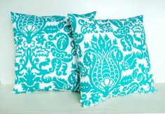 ordered these super pretty teal pillow covers for my orange and teal inspired living room in my new home. :)
