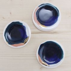 Redraven Set of 4 Painterly Dipping Plates