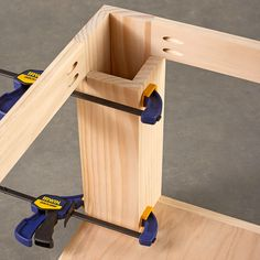 Pocket Holes used to build a Display Table.