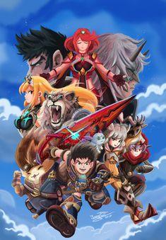 XENOBLADE 2 by JFRteam.deviantart.com on @DeviantArt Monolith Soft, Xeno Series, Xenoblade Chronicles 2, Best Rpg, Mega Evolution, Nintendo, Fire Emblem, Game Character, Cover Art