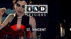The 10 female guitarist n.10 Annie Clark of St Vincent - 4AD Session