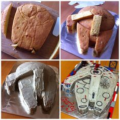 My attempt at a millenium falcon cake!