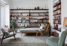Trendy home library luxury shelves 30 ideas Home Living Room, Interior Design Living Room, Living Room Decor, Living Spaces, Small Living, Kitchen Interior, Living Area, Home Library Design, Home Design