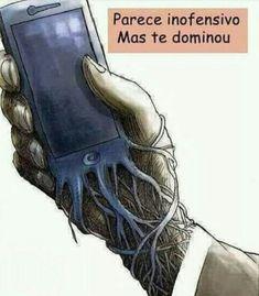"""""""Não permita que o celular te domine, não perca seu tempo com coisas inúteis. A vida é um sopro... Se dedique mais a Deus!"""""""