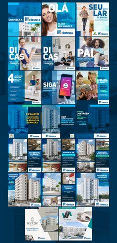 Projeto de mídias sociais para o cliente Construtora Fórmula.