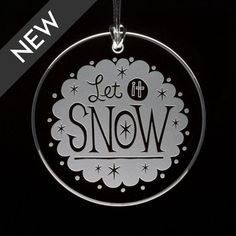 Let It Snow Etched Glass Ornament by MadisonDesignStudios on Etsy, $25.00