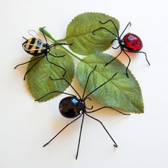 Screen Bugs Buglets for Window Decor Wire Insects Black Spider Ladybug Bumble Bee Small Bugs Home Decoration Window Screen Decorations