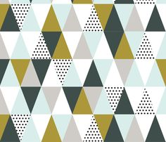 Triangle cheater quilt- boy fabric by cassie_kulp on Spoonflower - custom fabric