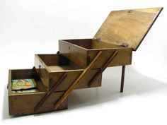 Vintage Wooden Sewing Box / Triple Compartments / by bacpaso