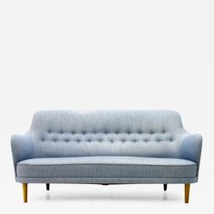 Carl Malmsten - Carl Malmsten Sofa, Sweden, offered by Inside Room on InCollect Beautiful Sofas, Scandinavian Modern, Blue Fabric, 1940s, Love Seat, Light Blue, Couch, The Originals, Room